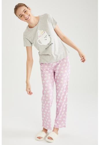 DeFacto purple Woman 2-pieces Homewear Top & Bottom Set D368CAA618B043GS_1