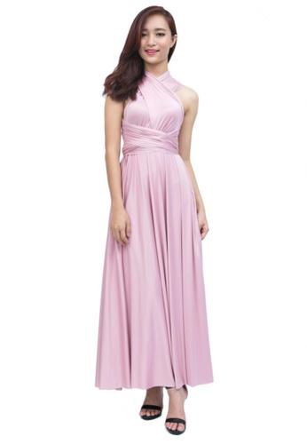 a255cd584689 COVETZ Wedding pink Kaelyn Convertible Maxi Dress - Queen Pink  CO611AA57KRYMY_1