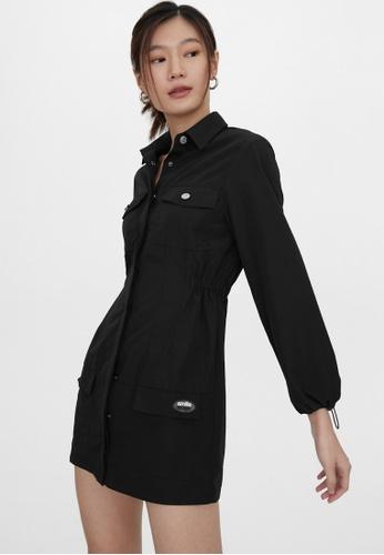Pomelo black Utility Mini Dress - Black 0D9D2AAD2F2A91GS_1