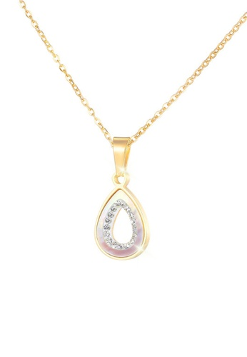 CELOVIS gold CELOVIS - Iona Teardrop with Mother Pearl and Zirconia Pendant Necklace in Gold 93CC4AC96D27F9GS_1