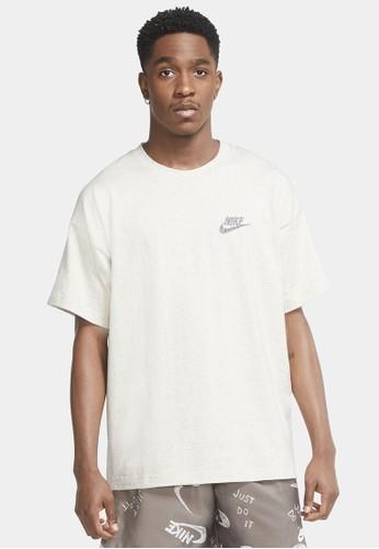 Nike white Men's Sportswear Essentials Short-Sleeve Top Jersey 5D139AAFE0FEEFGS_1
