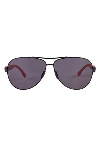 Hugo Boss red HUGO BOSS Aviator Red Polarized Sunglasses 0907FS HU898AC36OWHMY_1