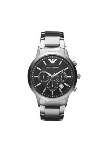 Emporio Armani REesprit台灣NATO經典系列腕錶 AR2434, 錶類, 紳士錶