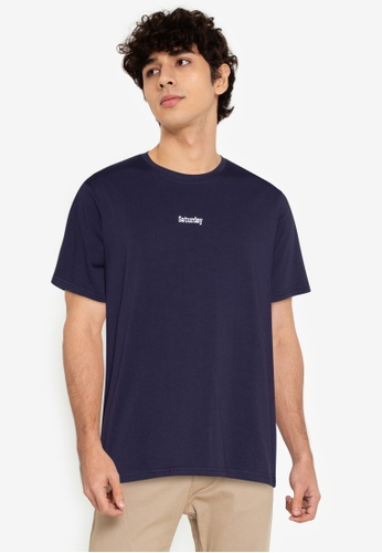 ZALORA BASICS navy Saturday T-Shirt C20A0AA1883631GS_1