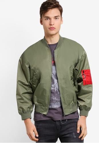 Flesh IMP 綠色 Dual Oversized Jacket FL064AA78NYNMY_1