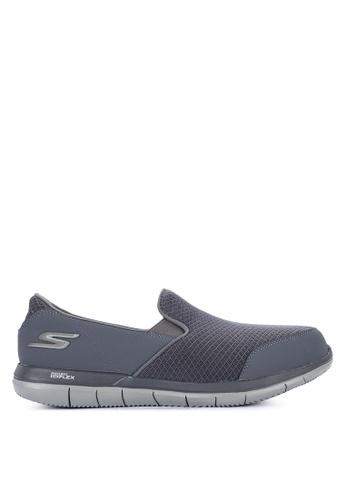 Skechers grey Go  Flex Slip-Ons 4025DSH51FE5A2GS_1