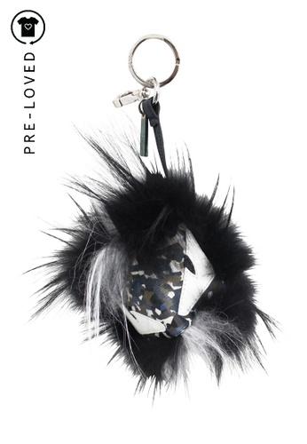 FENDI black Pre-Loved fendi Black Bag Bug Fur Monster Charm 3DE13ACC646E70GS_1