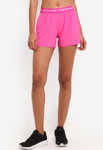Calvin Klein pink Logo Wb Shorts - Calvin Klein Performance DEA6FAA18453E0GS_1