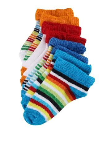 LC Waikiki multi 4-Packs Baby Boy's Striped Booties Socks 2263AKACFE9EAFGS_1