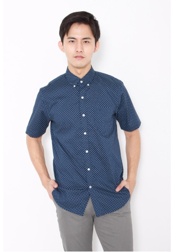 Dockers blue Dockers Soft No Wrinkle Short Sleeve Shirt Medieval Blue DO282AA0FW0BSG_1