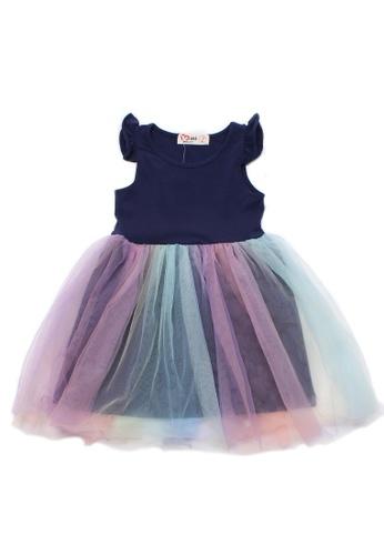 Mini Moley navy Rainbow Tulle Girl's Bubble Dress 8C5BEKA3A29FF3GS_1