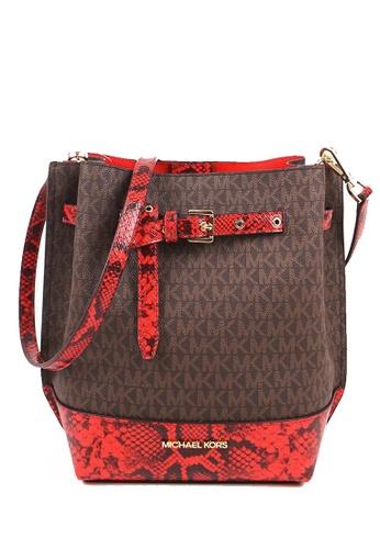 Michael Kors red MICHAEL Michael Kors Emilia Small Bucket Bag 6048CAC02A0DE1GS_1