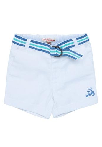 Du Pareil Au Même (DPAM) blue Tricycle Bermuda Shorts 8E78CKAF2DBD71GS_1
