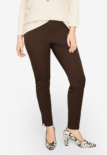 3dc8adda0b02c Shop Violeta by MANGO Plus Size Slim-Fit Stretch Trousers Online on ZALORA  Philippines