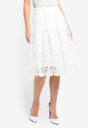 Vesper white Vesper Peony Full Lace Skirt 8BA84AA09408B8GS_1