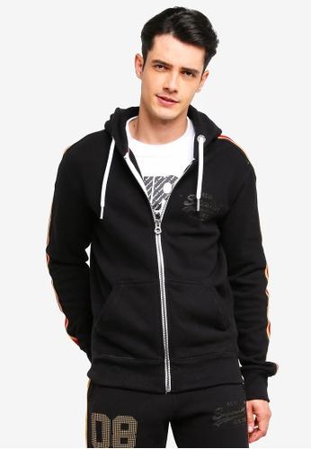 Superdry 黑色 復古LOGO連帽外套 2569CAA1930852GS_1