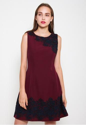 Leline Style red Kiara Lace Dress 3AF8EAA3C9F0B1GS_1