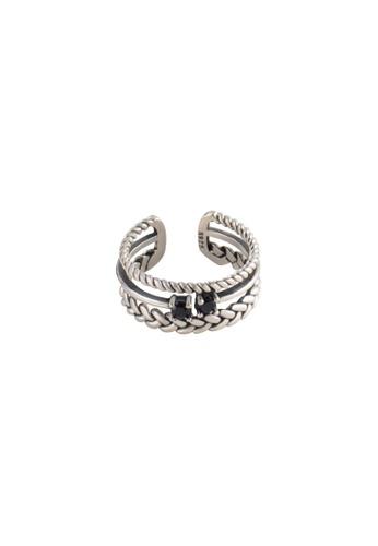A-Excellence silver Premium S925 Sliver Geometric Ring FFB40ACECC927FGS_1