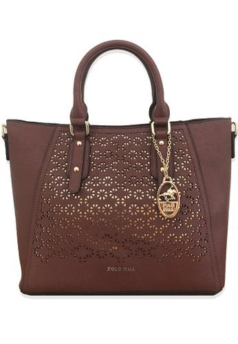 Polo Hill brown Polo Hill Tote Handbag 27F39ACF7FA981GS_1