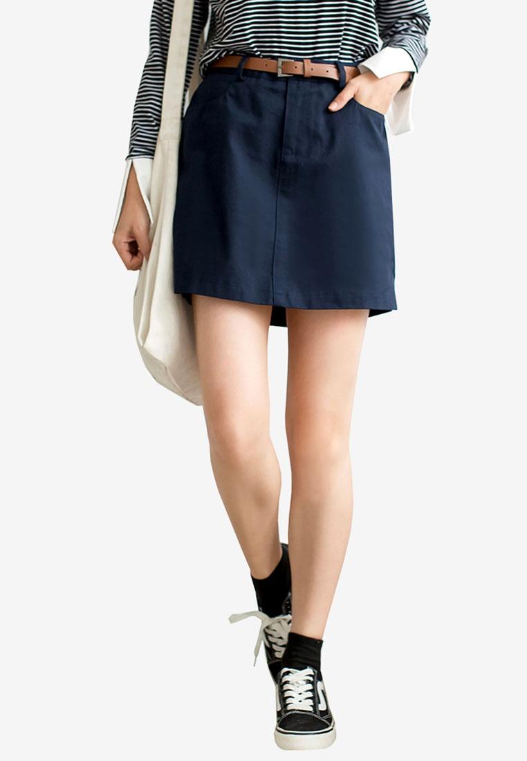 Dark High Skirt Waist Tokichoi Blue qTYtOwxRSO