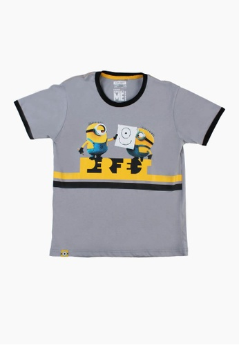 SODA grey Minion Perfect T-Shirt 462BFKAFF49F3EGS_1