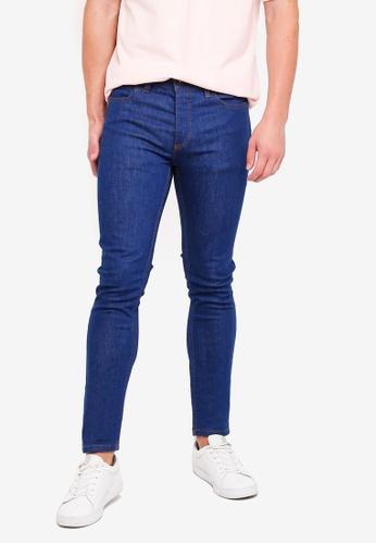 Topman 藍色 緊身牛仔褲 09062AAC93CB0DGS_1