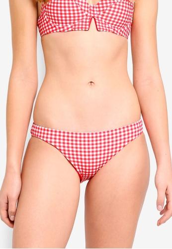 Seafolly red Capri Check Hipster Bikini Bottom 7D7B3USC0BB438GS_1