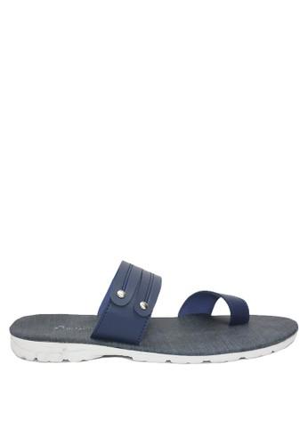 Dr. Kevin blue Dr. Kevin Men Leather Sandals 97213 - Blue 17228SH7D89FB5GS_1