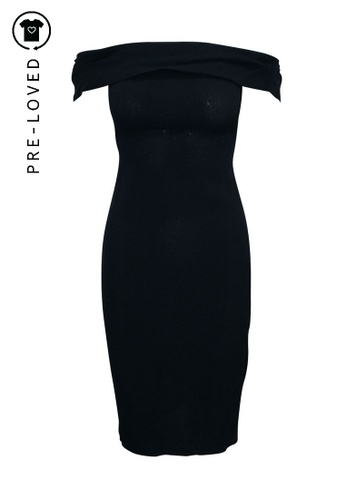 Reformation black Pre-Loved reformation Off Shoulder Black Midi Dress 3A788AA4F2FAA3GS_1