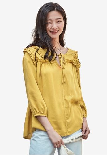 NAIN yellow Frill Blouse 2EBCAAA814B7D0GS_1