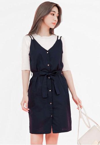 Eyescream blue Love Button Down Dress 20DF6AA13849F4GS_1