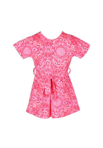 Mini Moley red Floral Print Girl's Flare Dress B9A2CKA4A566BBGS_1