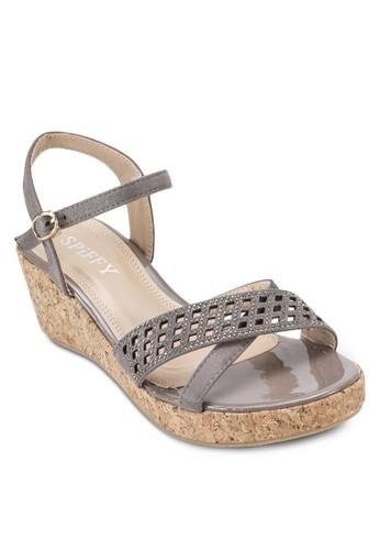 鏤空楔型跟涼鞋, 女esprit outlet hk鞋, 鞋