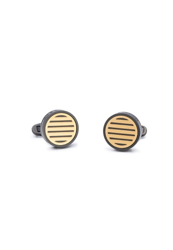 Maverick & Co. Maverick & Co. Black/Gold Oculus 袖扣 51748AC3CCBBD9GS_1
