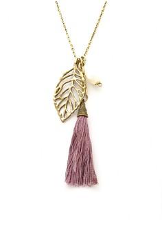 Leaf Tassel Necklace
