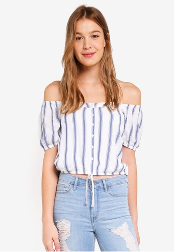 Hollister white Chase Off Shoulder Top CD0CAAA45021E1GS_1