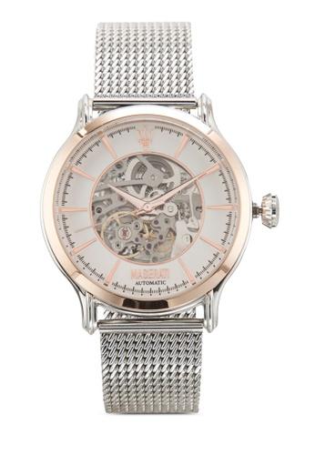 Maserati silver Maserati Epoca Men's Automatic Bracelet Watch R8823118001 MA410AC39UXCMY_1
