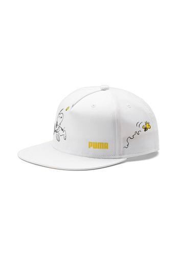 Puma white PUMA x PEANUTS Flat Brim Youth Cap 93A2EKC86D2767GS_1