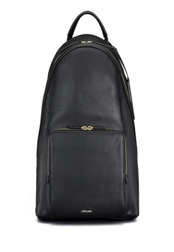 Gnome and Bow black and brown and purple and beige Athos Backpack 84C0EACC86B479GS_1