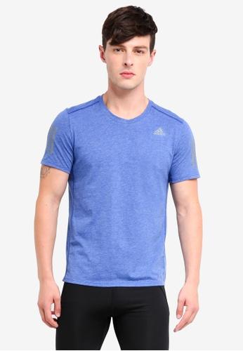 adidas 藍色 Response Soft 慢跑T恤 E67EBAA0B4B8C1GS_1