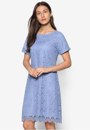 蕾絲直筒連身裙, 服飾, esprit招聘洋裝
