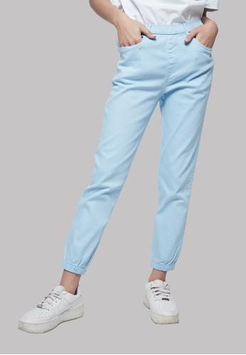 IHANG blue IHANG Soft Denim Jogger Pants Blue 1E93CAAB0665DCGS_1