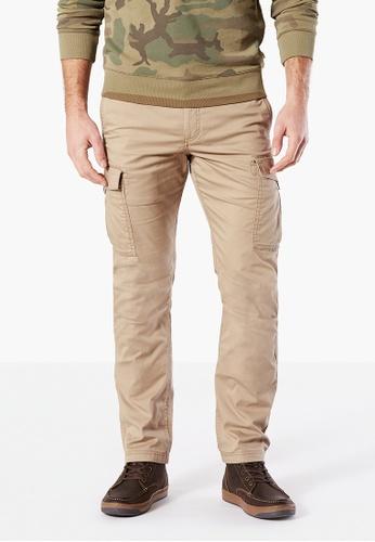 Dockers brown Dockers Premium Cargo Slim Tapered Pants Khaki 6481EAA350E908GS_1
