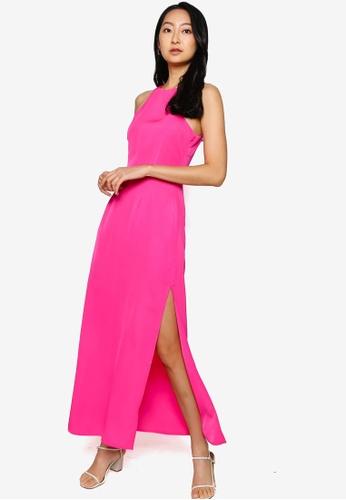 ZALORA BASICS pink Cut In Maxi Dress 2FCD2AAE64E7E1GS_1