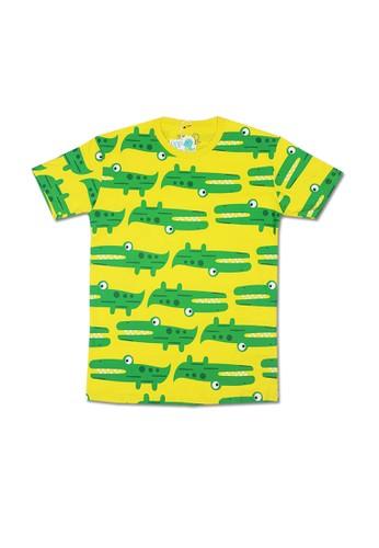 Pop Kidswear yellow Pop Kidswear Crocodile Adult tee ( Short Sleeves ) 0FE03AAE0FB075GS_1