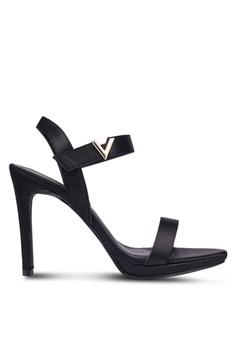 VINCCI black Strappy Heels BF0F5SH74EE04CGS 1 11e78c7786
