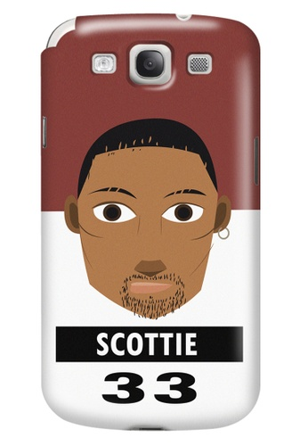 Wonder Cover black and white and brown and red Scottie Matte Hard Case for Samsung Galaxy S3 WO617AC20CNBPH_1