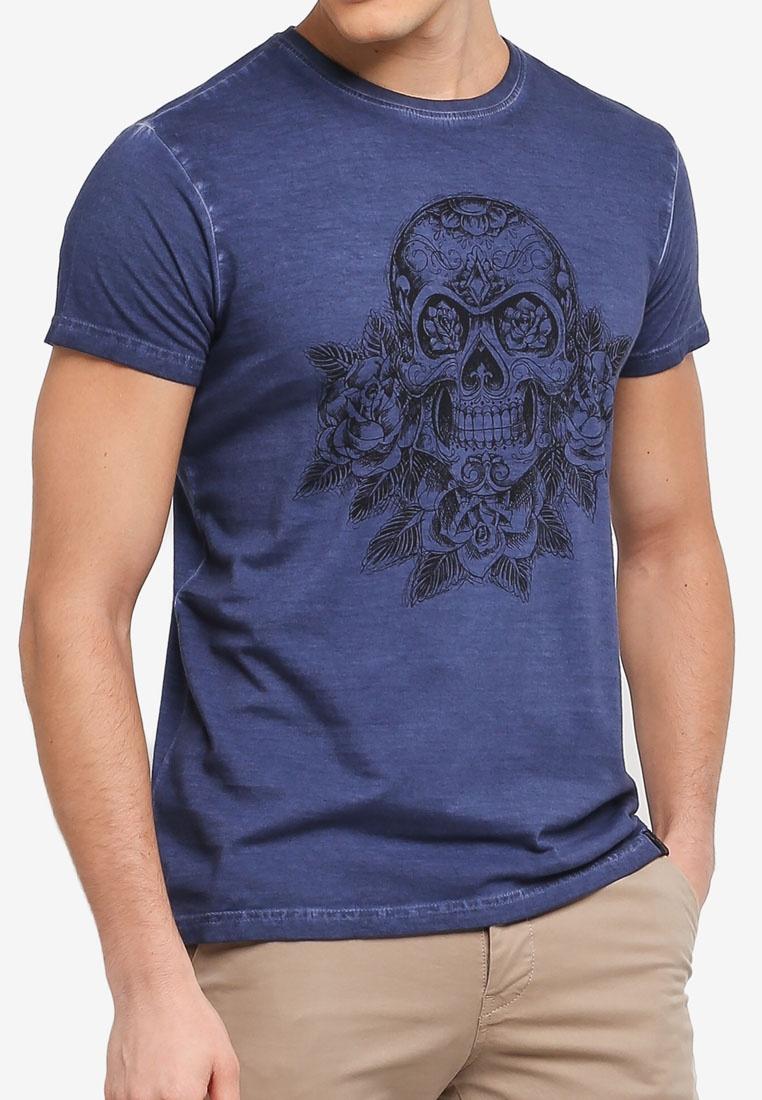 Box Jeans Foggia Graphic Shirt Indicode T Navy Oddv6qwn