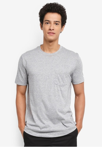MANGO Man grey Flecked Cotton-Blend T-Shirt 0A195AAC803615GS_1