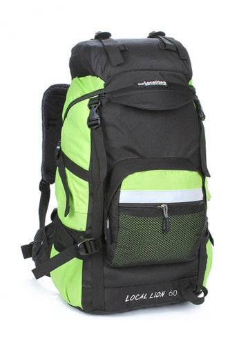 Local Lion Local Lion Steel Support Water Resistant Hiking Backpack L STEEL 60L (Green) LO780SE22SVTMY_1